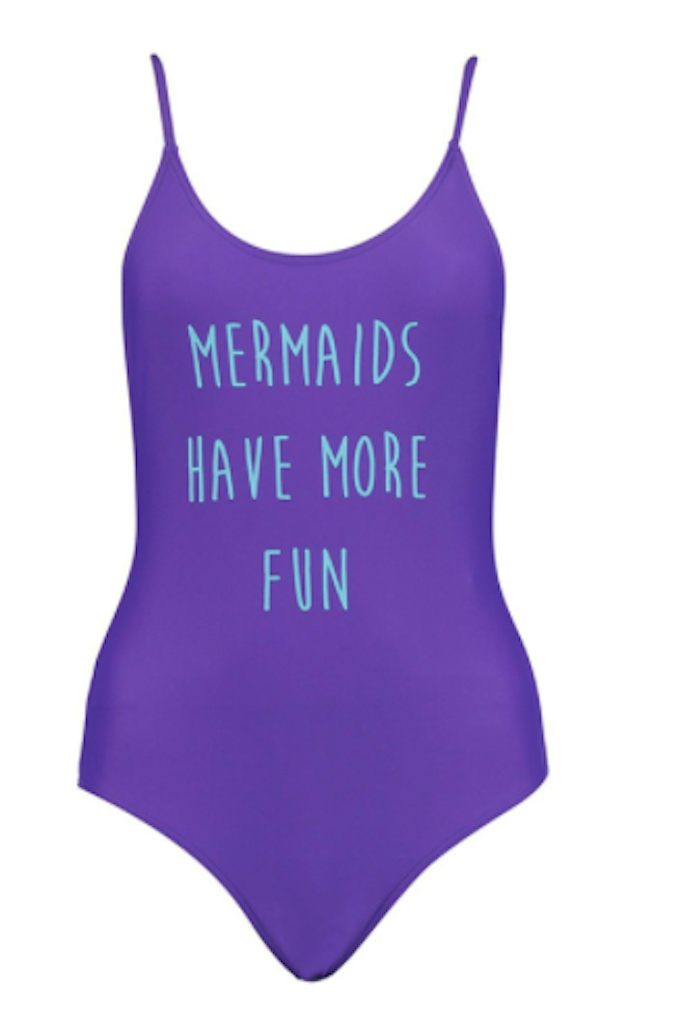 Mermaids Have More Fun Purple One Piece - SWIMWEAR - Free Vibrationz - Free Vibrationz - 2