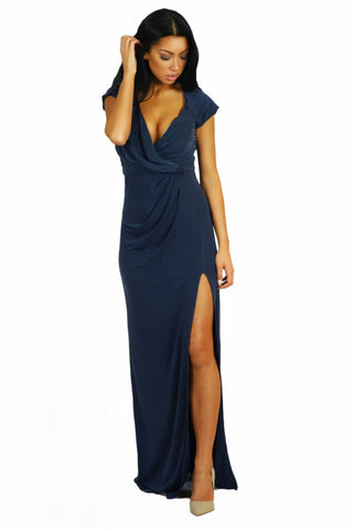 The Jetset Diaries Novella Maxi Dress Cobalt - DRESSES - The JetSet Diaries - Free Vibrationz - 1