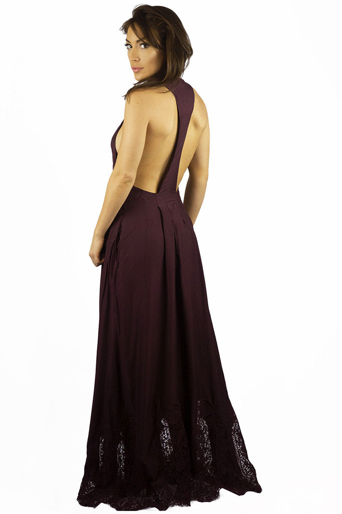 The Jetset Diaries Verona Maxi Dress Bordeaux - DRESSES - The JetSet Diaries - Free Vibrationz - 2