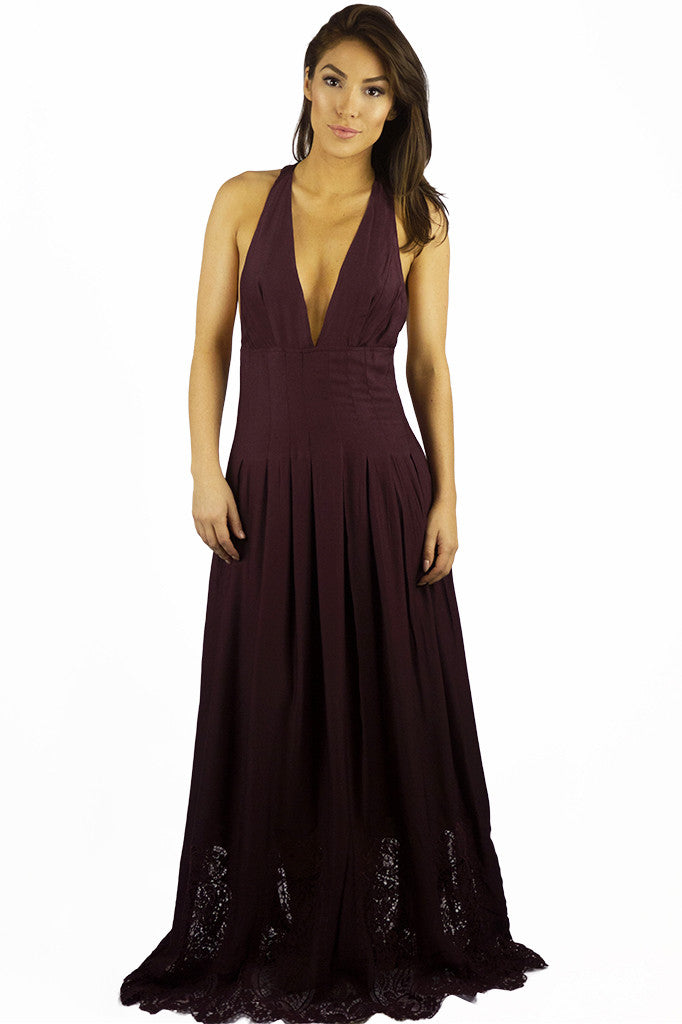 The Jetset Diaries Verona Maxi Dress Bordeaux - DRESSES - The JetSet Diaries - Free Vibrationz - 3