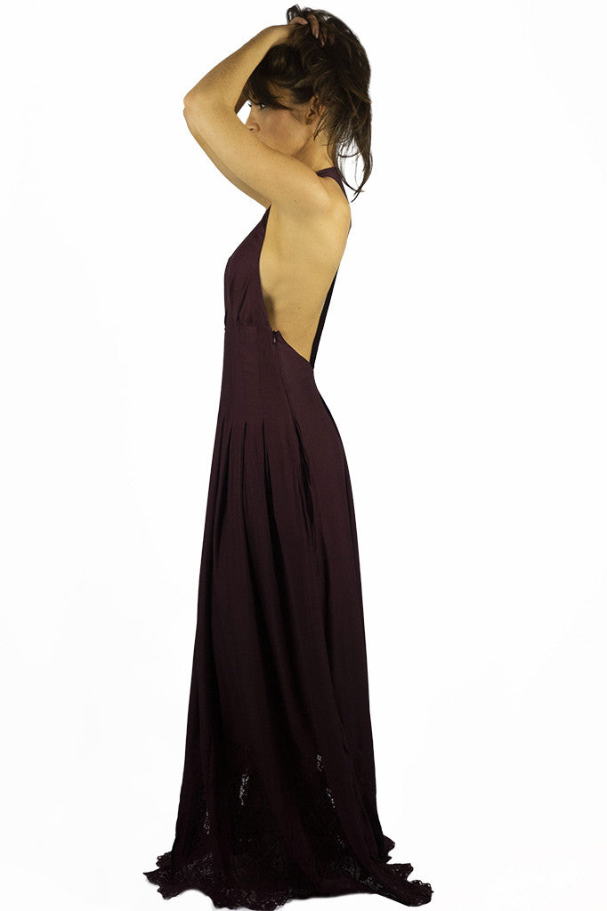 The Jetset Diaries Verona Maxi Dress Bordeaux - DRESSES - The JetSet Diaries - Free Vibrationz - 4