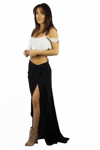 The Jetset Diaries Serenity Skirt Black - BOTTOMS - The JetSet Diaries - Free Vibrationz - 1