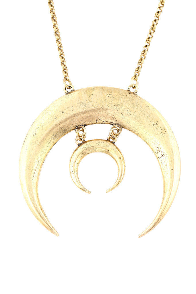 Torchlight Sacred Moon Necklace Brass - ACCESSORIES - Torchlight - Free Vibrationz - 2