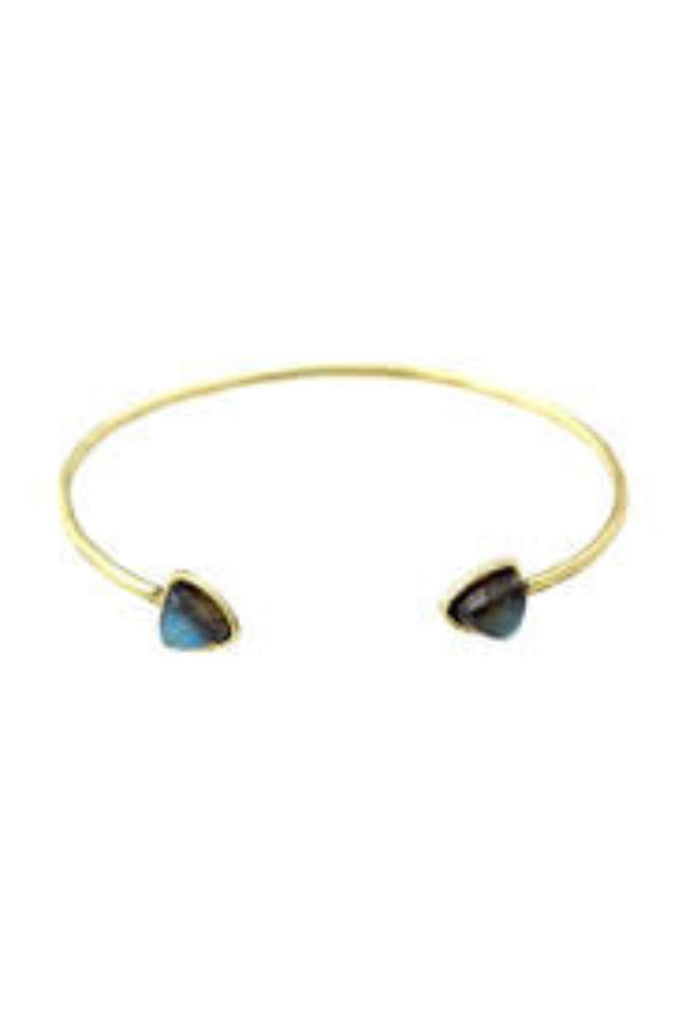 Torchlight Aurora Cuff Brass with Labradorite - ACCESSORIES - Torchlight - Free Vibrationz - 1