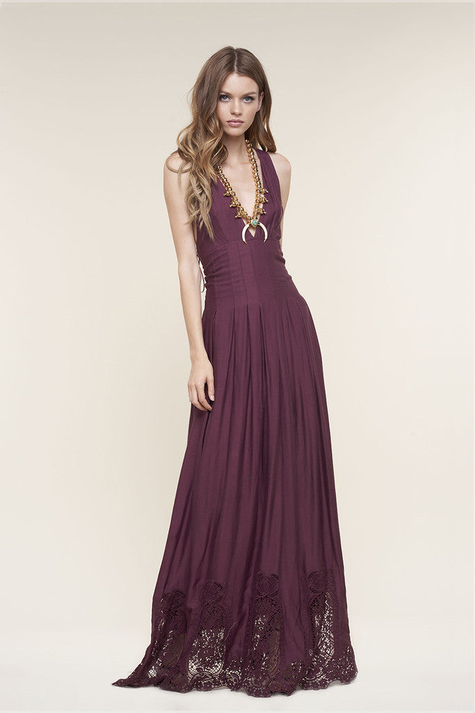 The Jetset Diaries Verona Maxi Dress Bordeaux - DRESSES - The JetSet Diaries - Free Vibrationz - 1