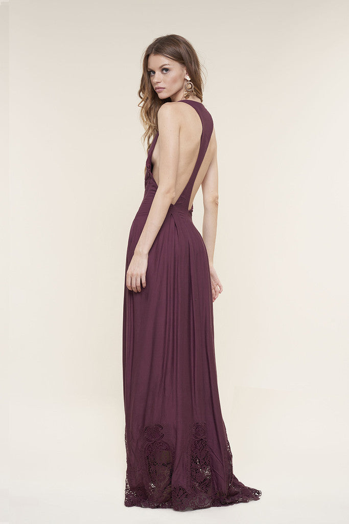 The Jetset Diaries Verona Maxi Dress Bordeaux - DRESSES - The JetSet Diaries - Free Vibrationz - 5
