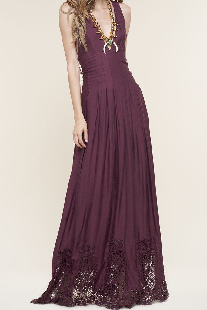 The Jetset Diaries Verona Maxi Dress Bordeaux - DRESSES - The JetSet Diaries - Free Vibrationz - 6