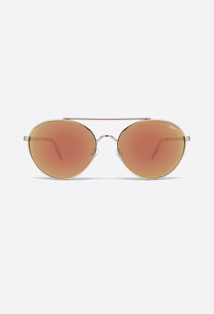 Quay Australia Circus Life Gold Sunglasses - ACCESSORIES - QUAY - Free Vibrationz - 3