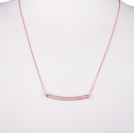 Amorium Rose Gold and White Tube Necklace - ACCESSORIES - Amorium - Free Vibrationz - 3