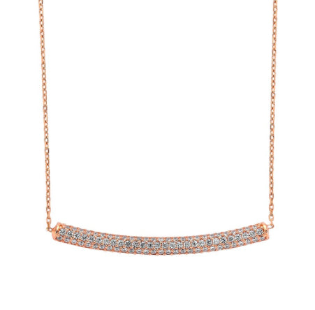 Amorium Rose Gold and White Tube Necklace- ACCESSORIES-Amorium-Free Vibrationz