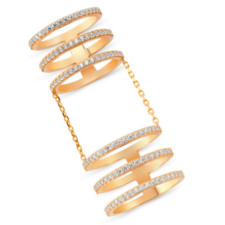Amorium Rose Gold Plated Sterling Silver Six Line Ring- ACCESSORIES-Amorium-Free Vibrationz