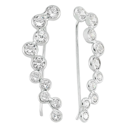 Amorium Bubble Ear Cuff - Silver- ACCESSORIES-Amorium-Free Vibrationz