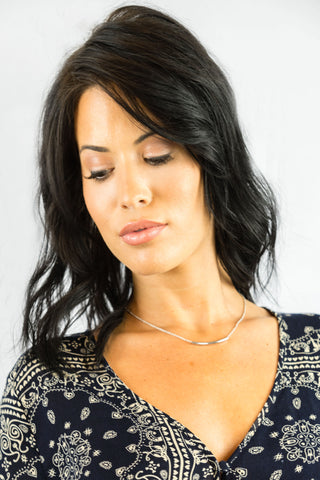 Silver Tube Necklace - ACCESSORIES - Free Vibrationz - Free Vibrationz