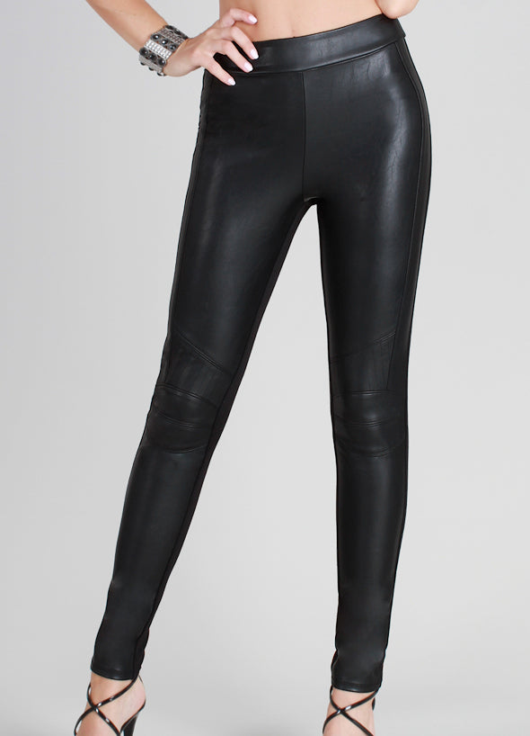 NikiBiki Paneled Faux Leather Pants - BOTTOMS - NIKIBIKI - Free Vibrationz - 4