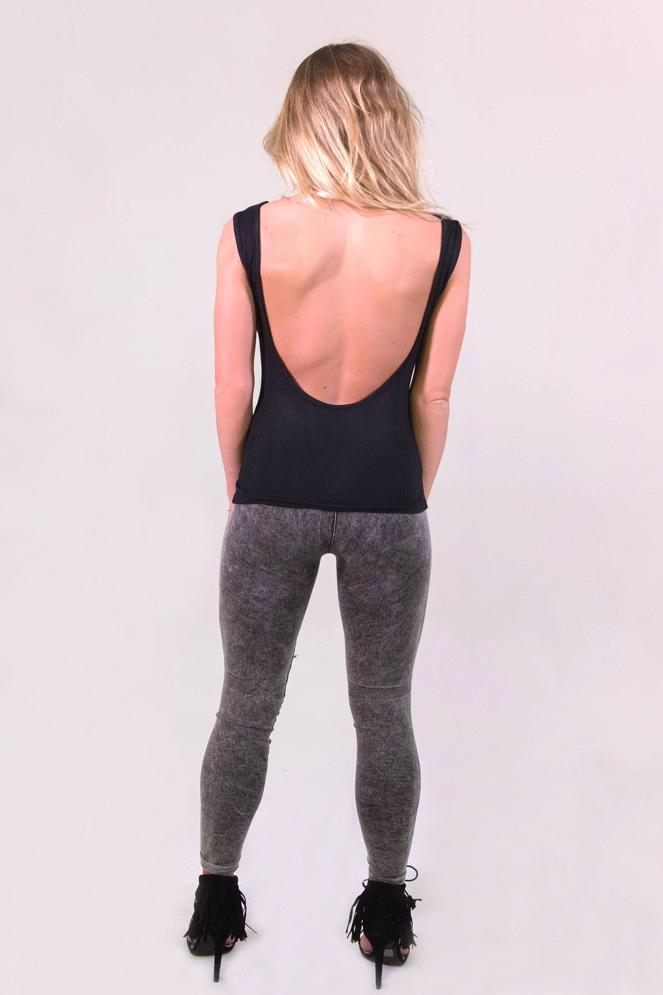 NikiBiki Vintage Ripped Leggings - Charcoal - BOTTOMS - NIKIBIKI - Free Vibrationz - 3