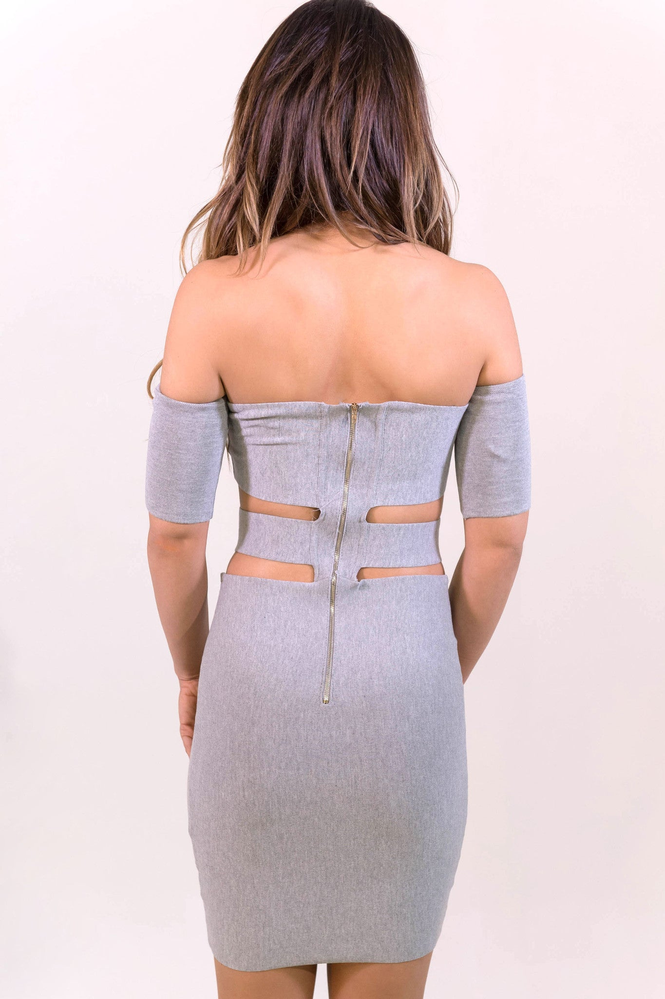 Rehab Can't Stop Me Dress - Grey - DRESSES - REHAB - Free Vibrationz - 3