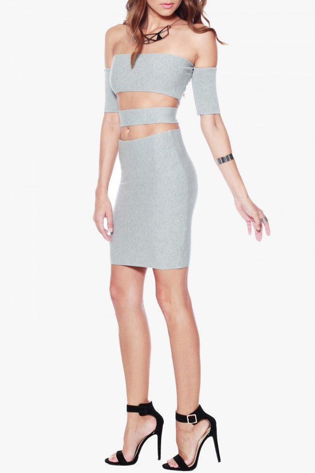 Rehab Can't Stop Me Dress - Grey - DRESSES - REHAB - Free Vibrationz - 5