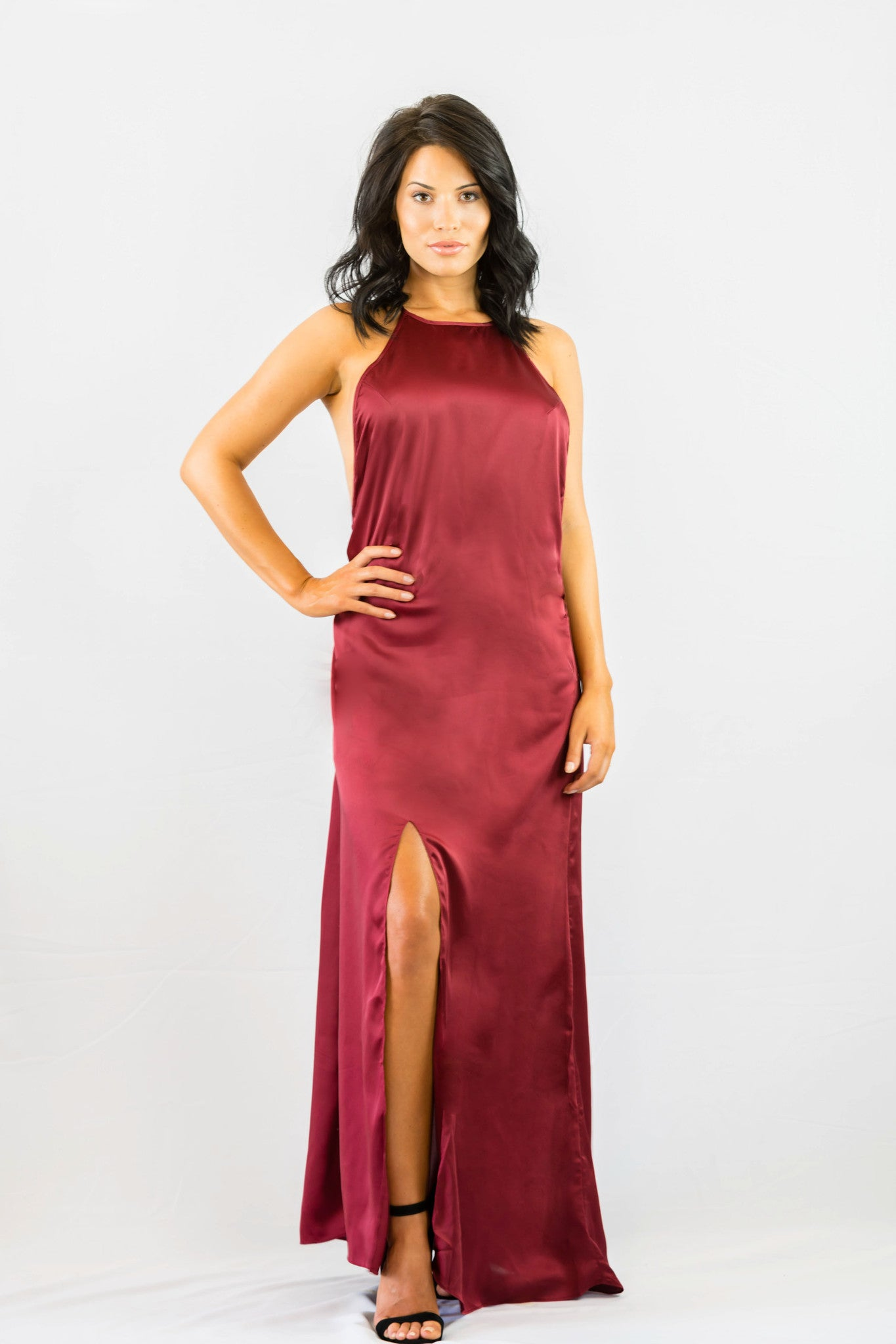 WYLDR Elegance Maxi Dress - Wine - DRESSES - WYLDR - Free Vibrationz - 4
