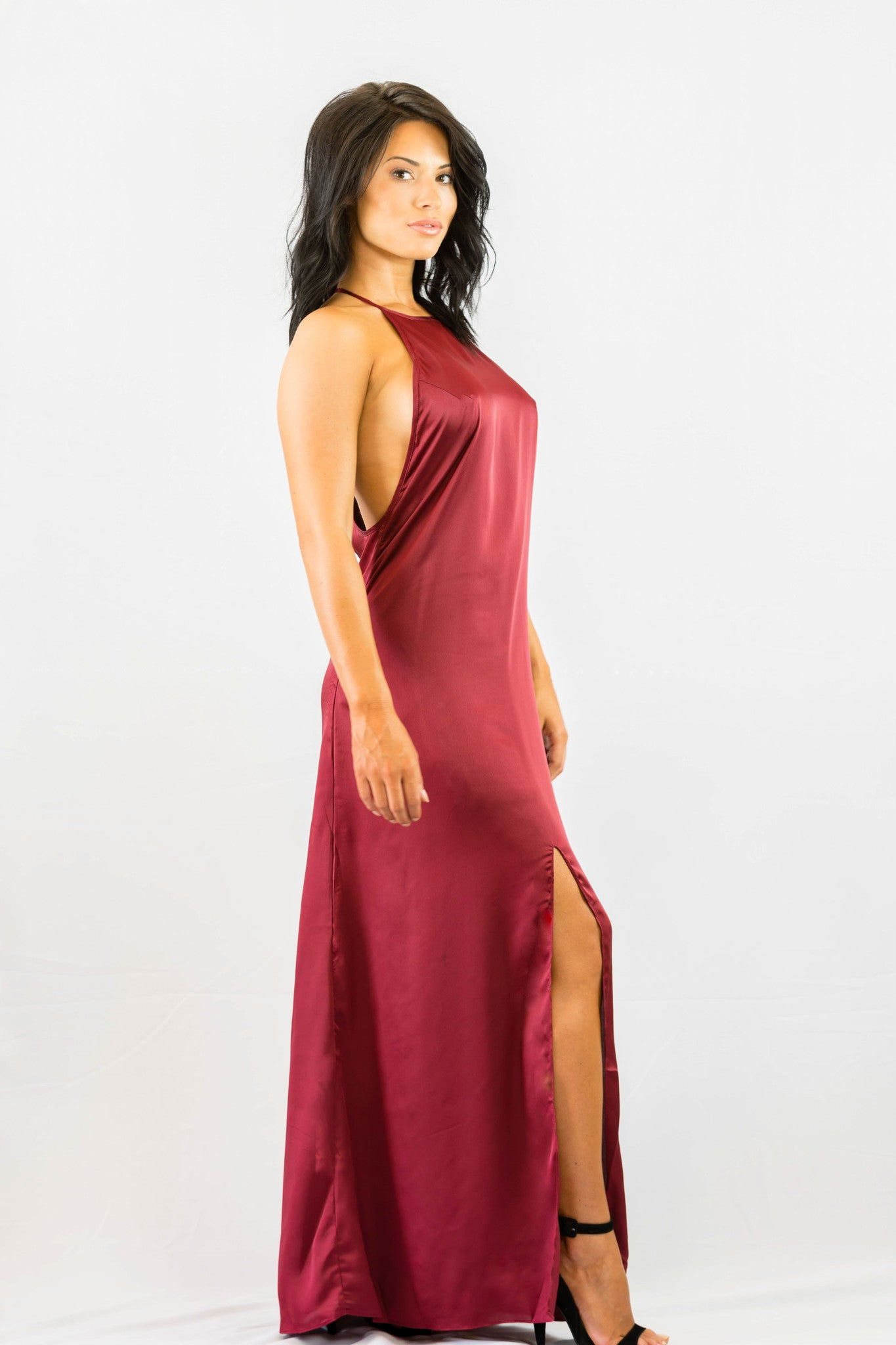 WYLDR Elegance Maxi Dress - Wine - DRESSES - WYLDR - Free Vibrationz - 3