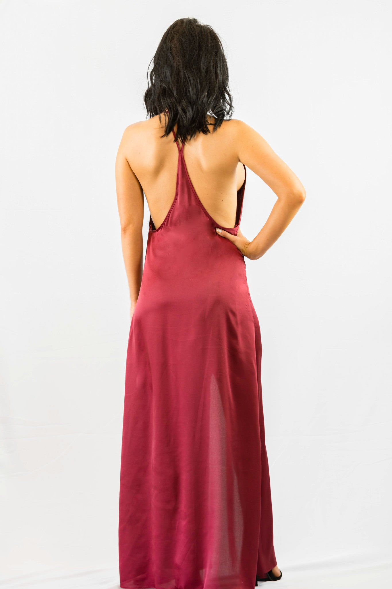 WYLDR Elegance Maxi Dress - Wine - DRESSES - WYLDR - Free Vibrationz - 5