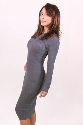 Rehab Slay Dress - Grey - DRESSES - REHAB - Free Vibrationz - 1