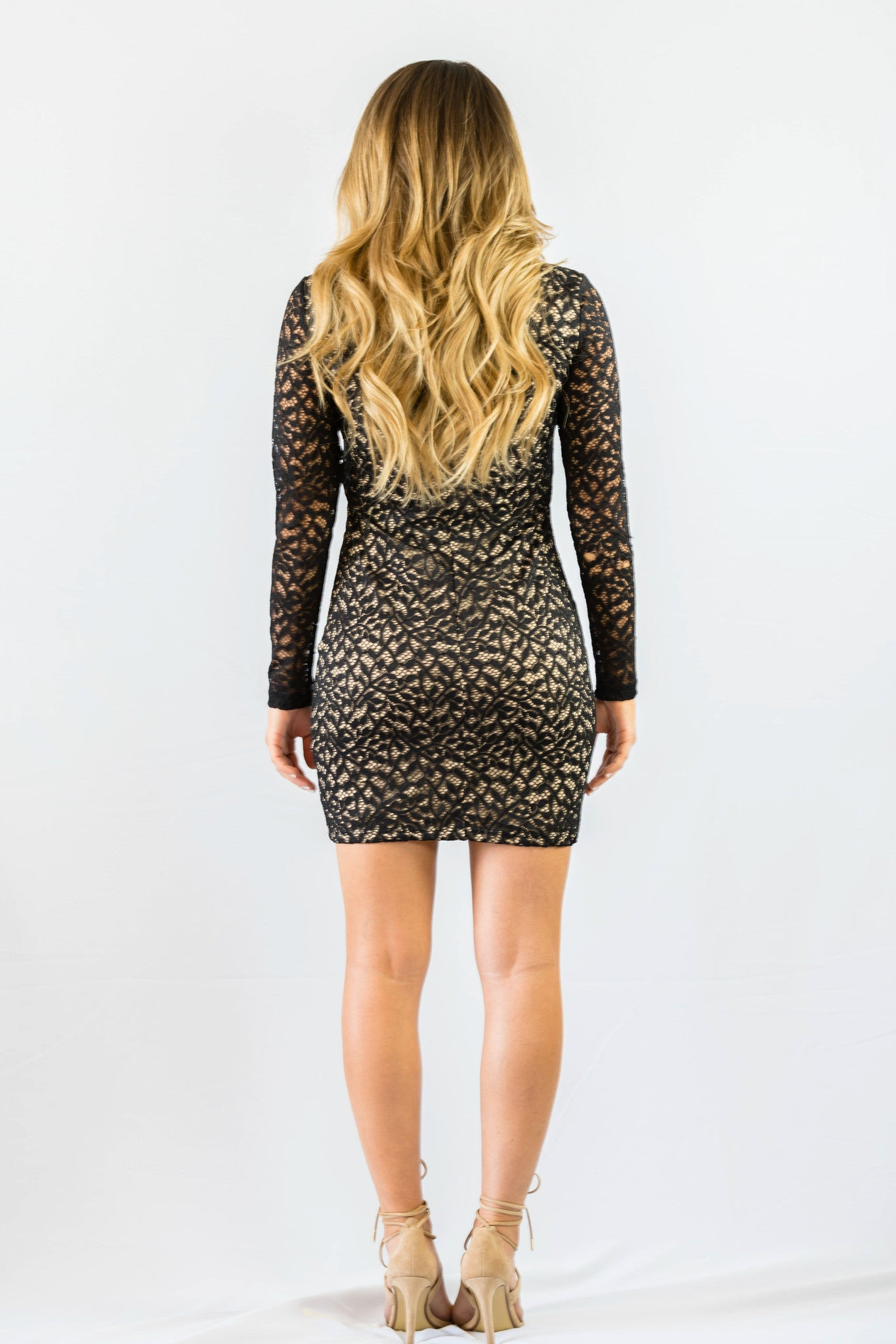 WYLDR In Too Deep Lace Black Body Con Dress - DRESSES - WYLDR - Free Vibrationz - 5