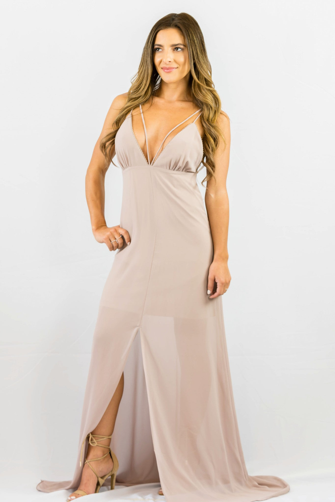WYLDR Stay With Me Plunge Maxi Dress - DRESSES - WYLDR - Free Vibrationz - 5