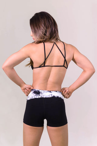 Geometry Strapped Top- ACTIVEWEAR-Free Vibrationz-Free Vibrationz