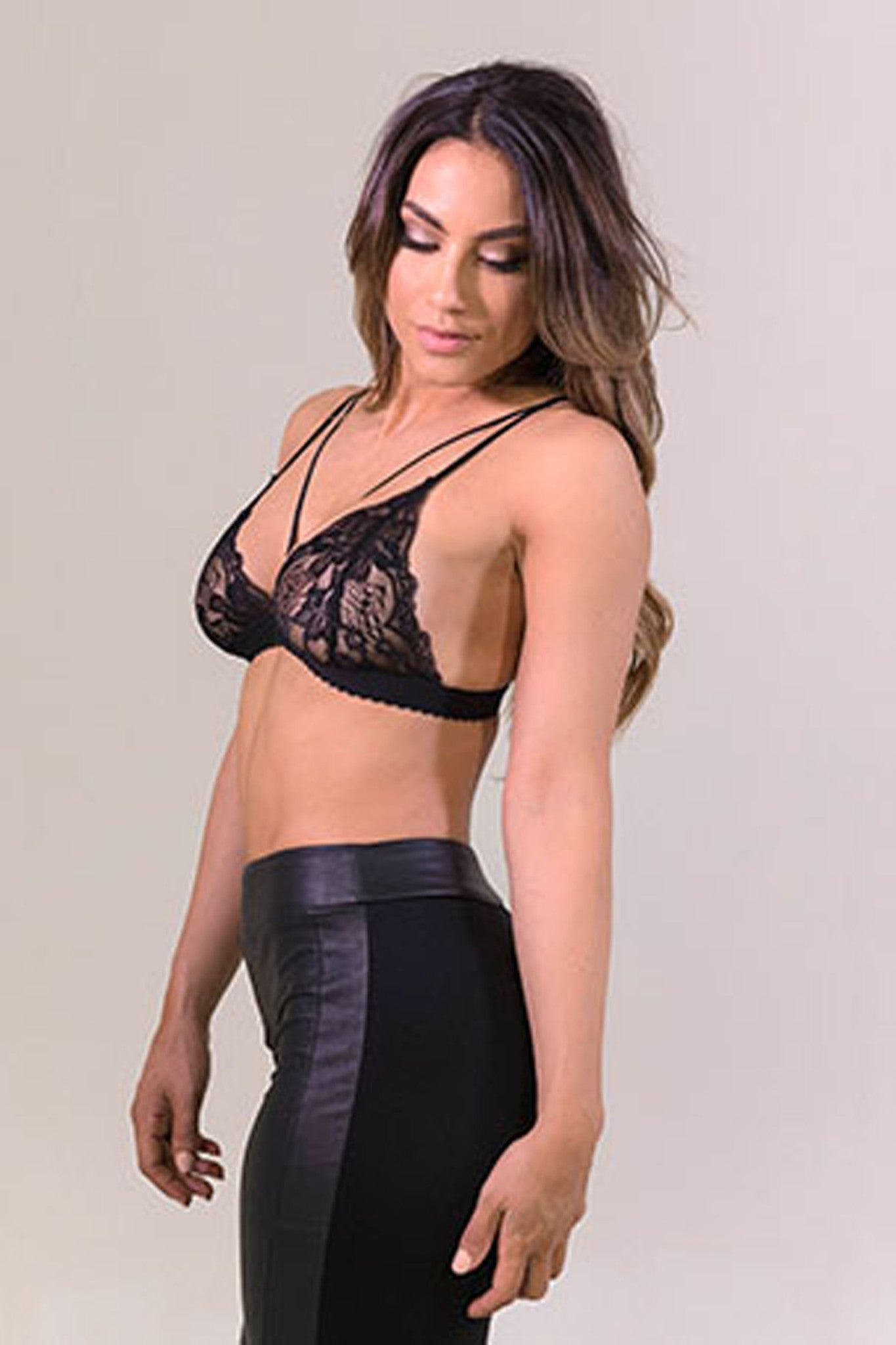 Day And Night Black Lace Bra- Intimates-Free Vibrationz-Free Vibrationz