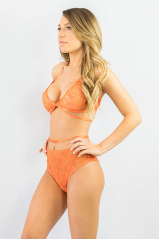 Rehab Lacey Free Lingerie Set Orange - Intimates - REHAB - Free Vibrationz - 1