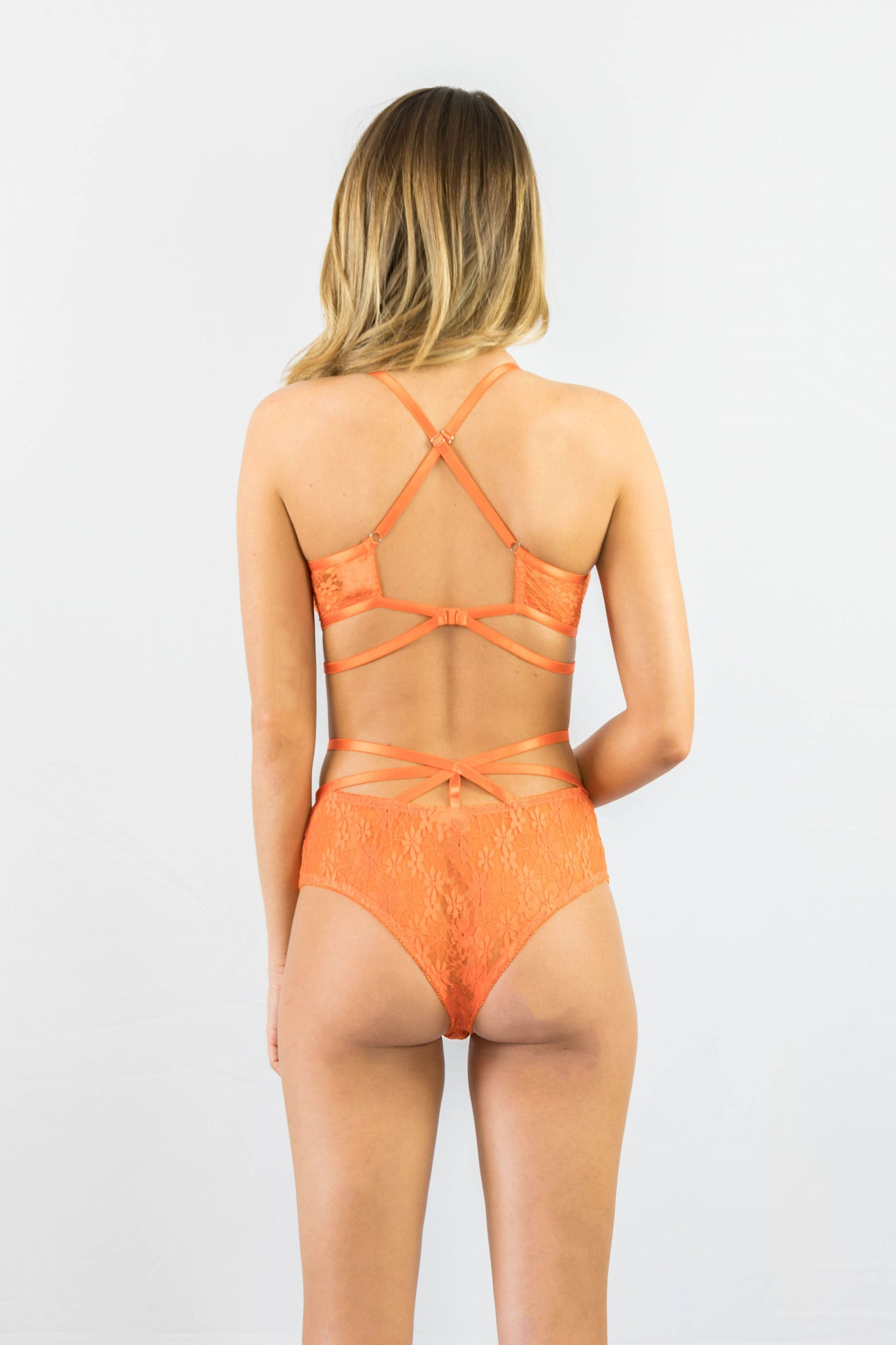 Rehab Lacey Free Lingerie Set Orange - Intimates - REHAB - Free Vibrationz - 3