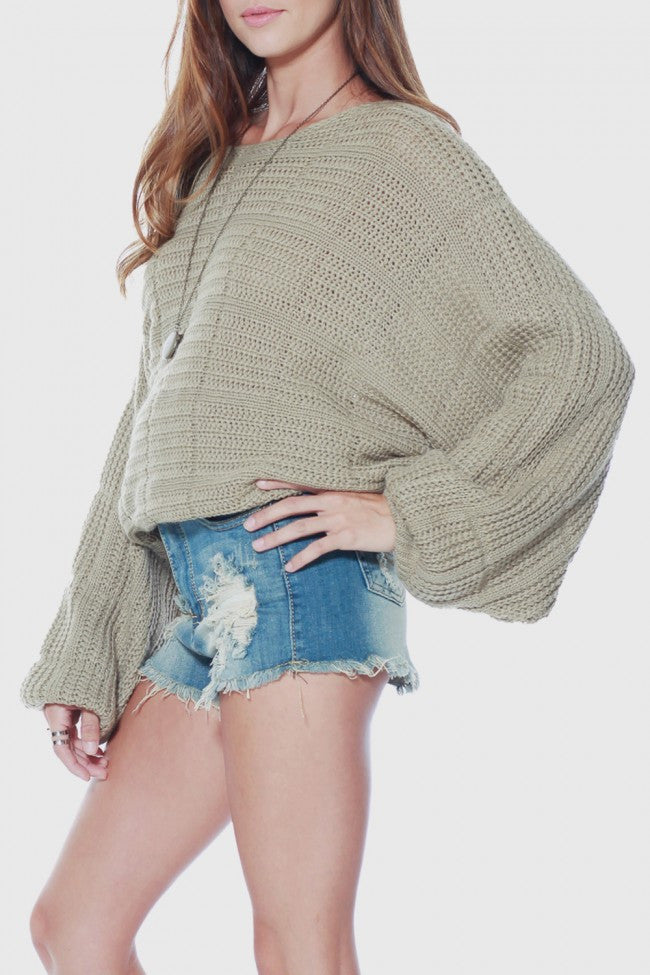 Rehab Baggy Hobo Sweater - OUTERWEAR - REHAB - Free Vibrationz - 2