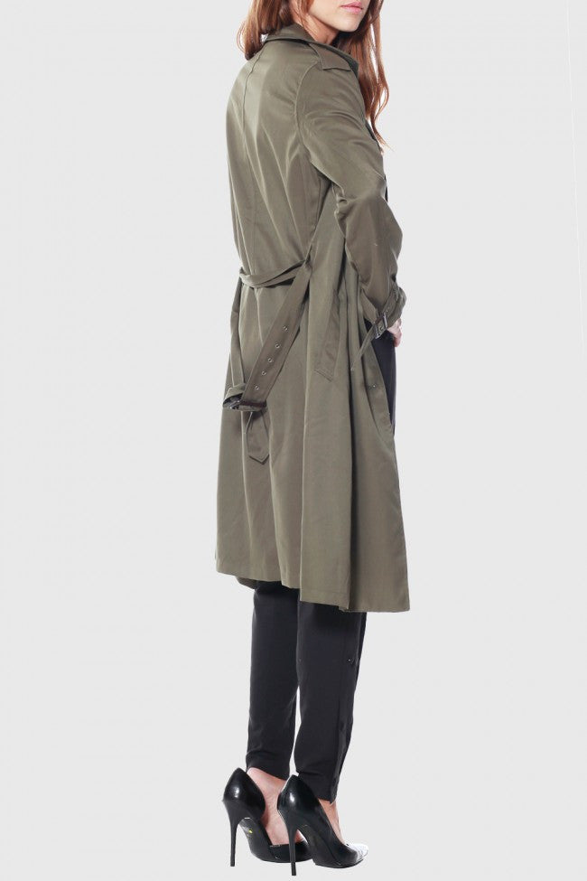 Rehab Olive Crazy Cool Trenchcoat - OUTERWEAR - REHAB - Free Vibrationz - 6