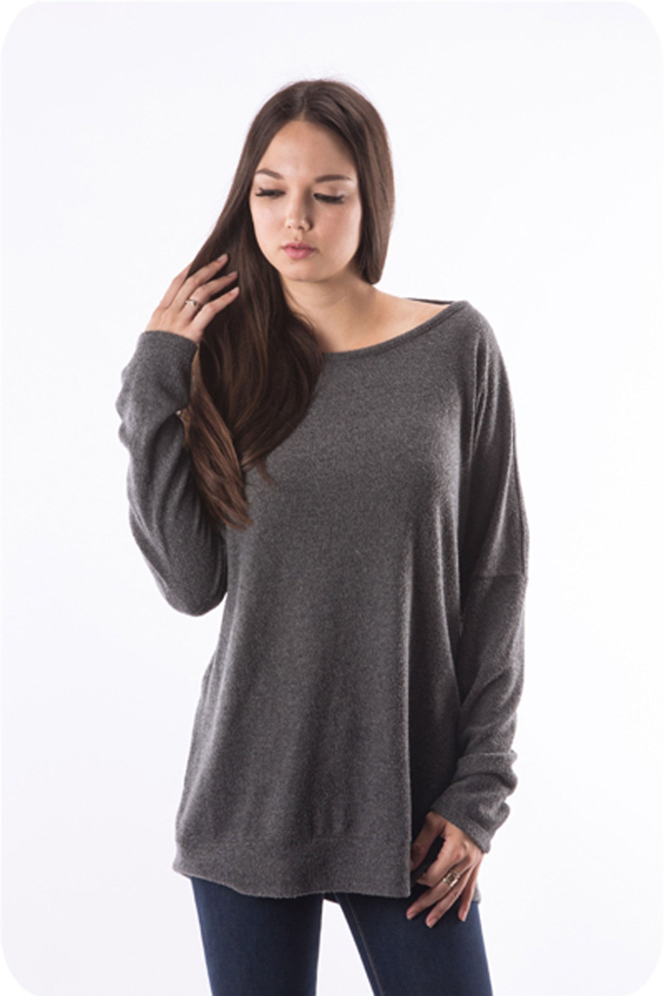 Drape Comfy Sweater- OUTERWEAR-ABLE USA-Free Vibrationz