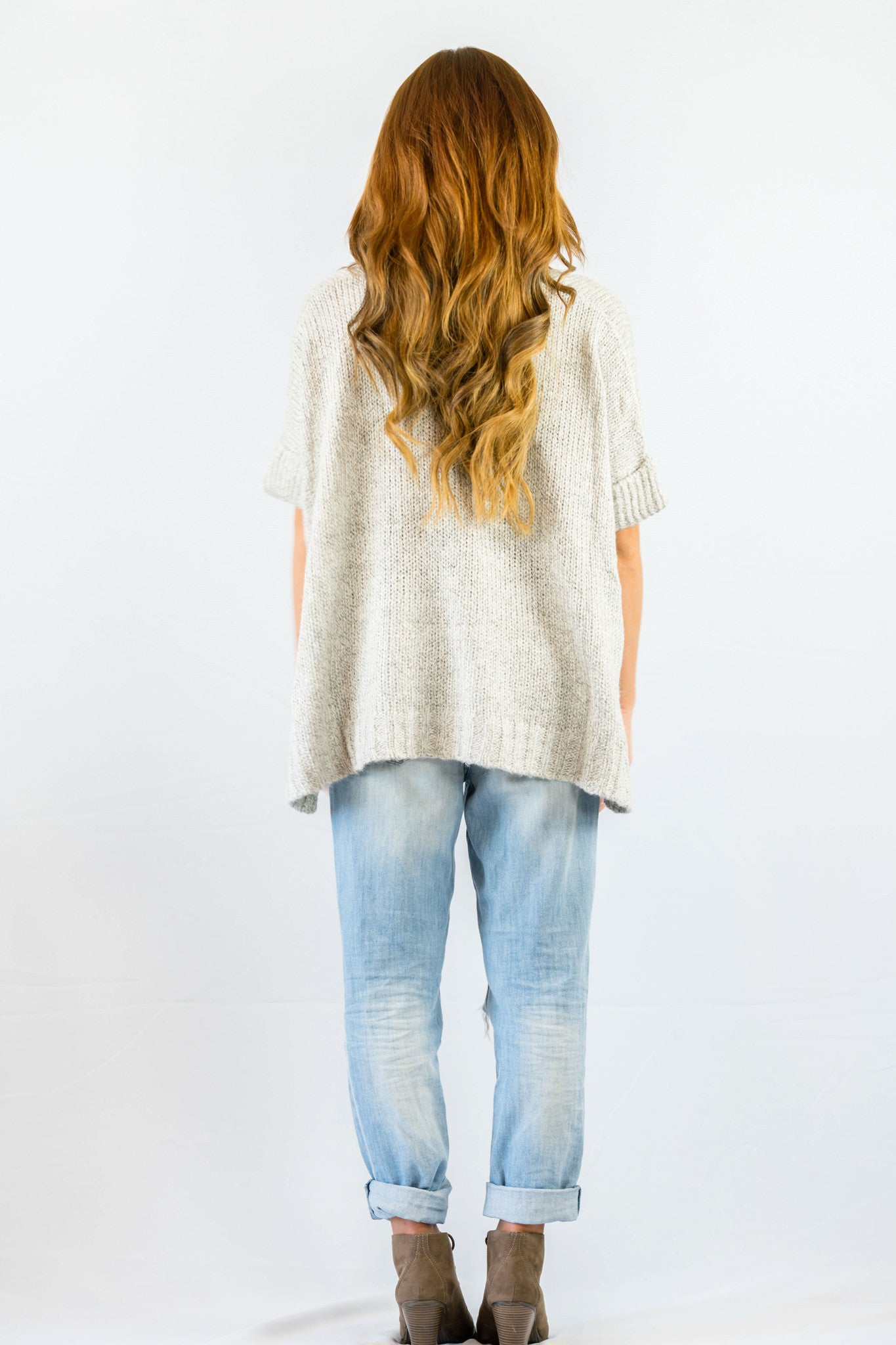 Cecico Lazy Grey Sweater- OUTERWEAR-Cecico-Free Vibrationz