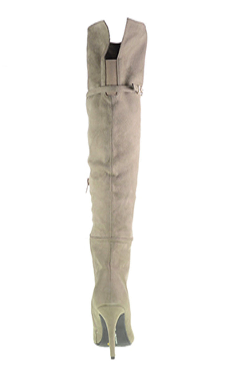 Chinese Laundry Center Stage Over The Knee Boot - Grey- Shoes-CHINESE LAUNDRY-Free Vibrationz