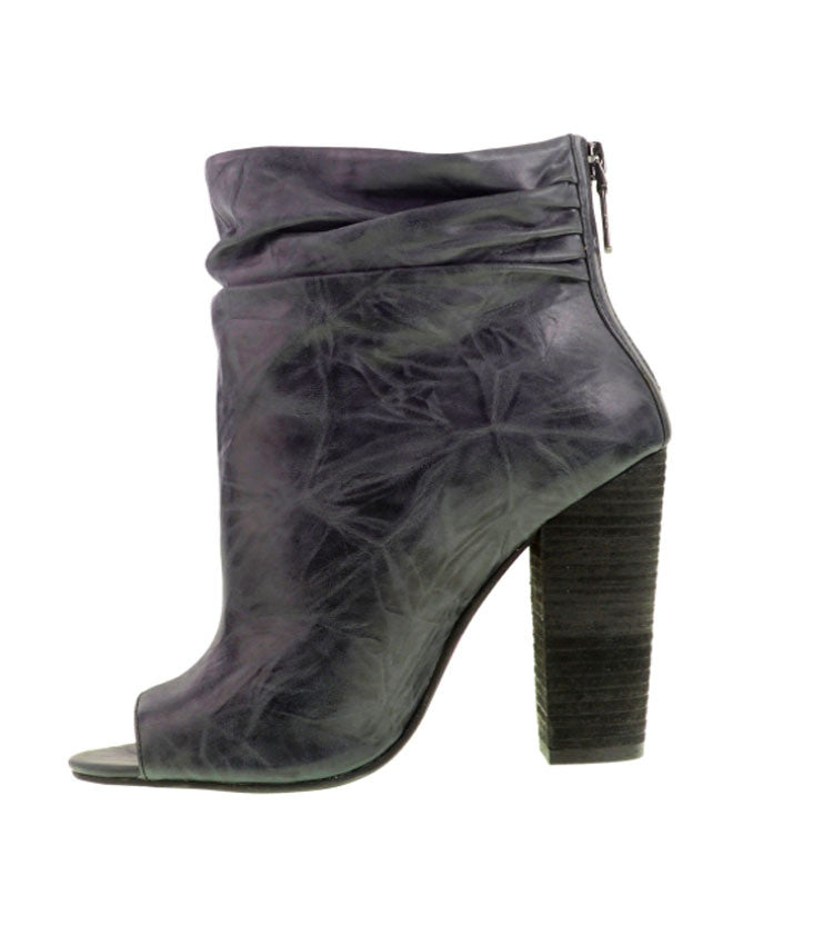 Chinese Laundry | Kristin Cavallari Liam Peep Toe Bootie - Charcoal- Shoes-Kristin Cavallari by Chinese Laundry-Free Vibrationz