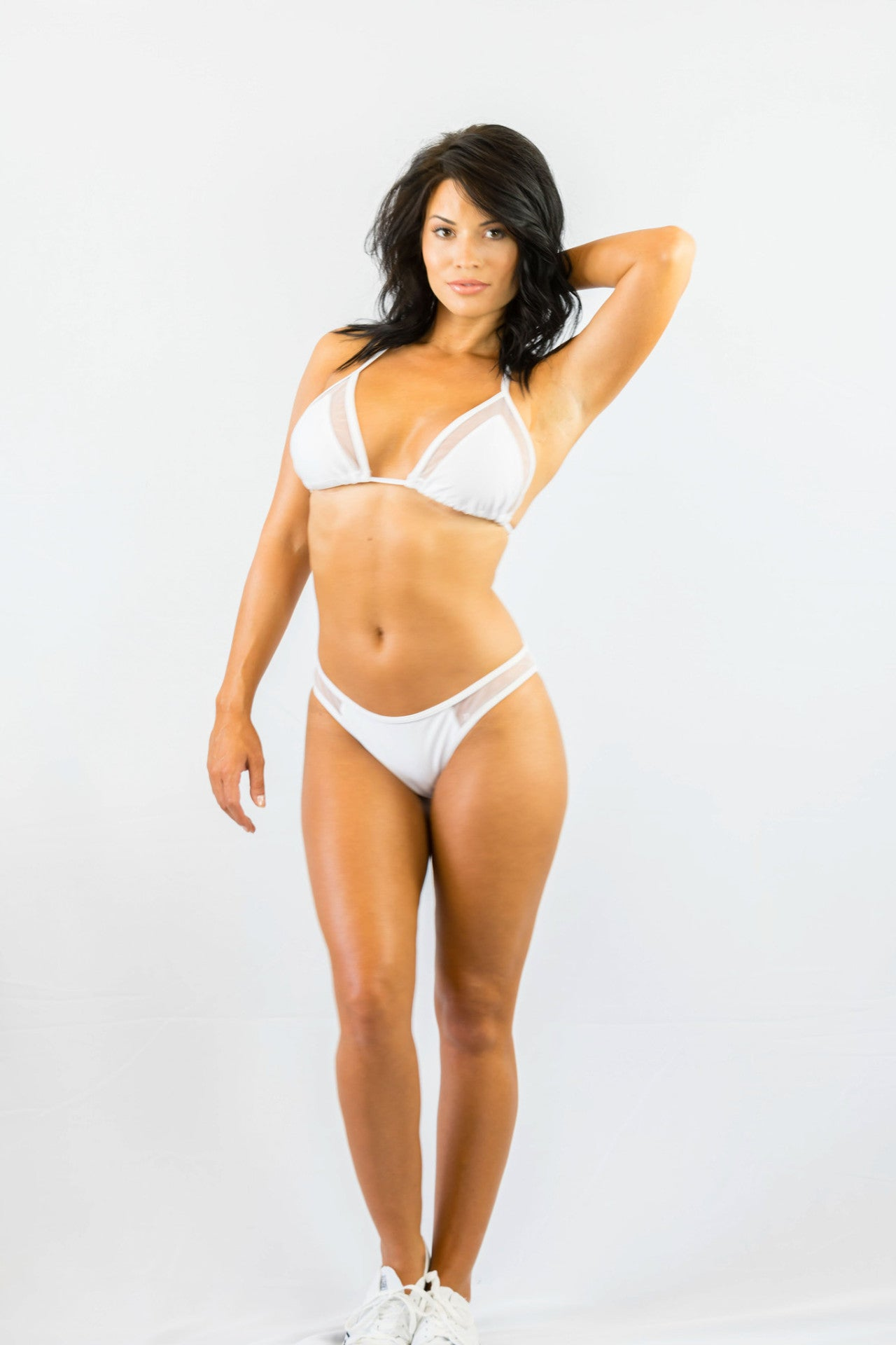 Don't Mesh With Me Bikini Set White- SWIMWEAR-Free Vibrationz-Free Vibrationz