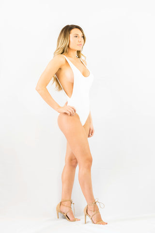Forcefield One Piece White- SWIMWEAR-Free Vibrationz-Free Vibrationz