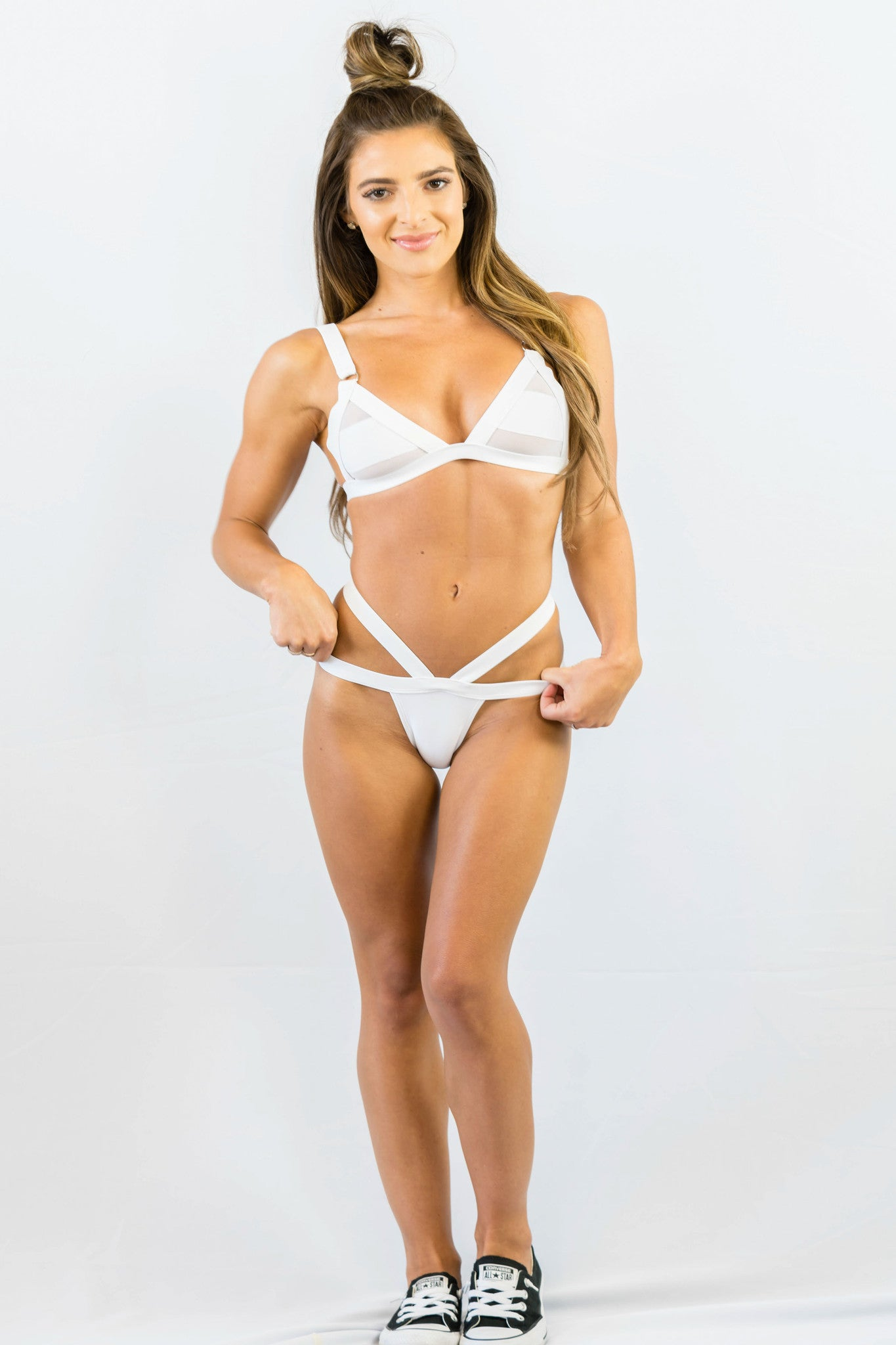 Sweet Disposition Bikini Set White - SWIMWEAR - Free Vibrationz - Free Vibrationz - 1
