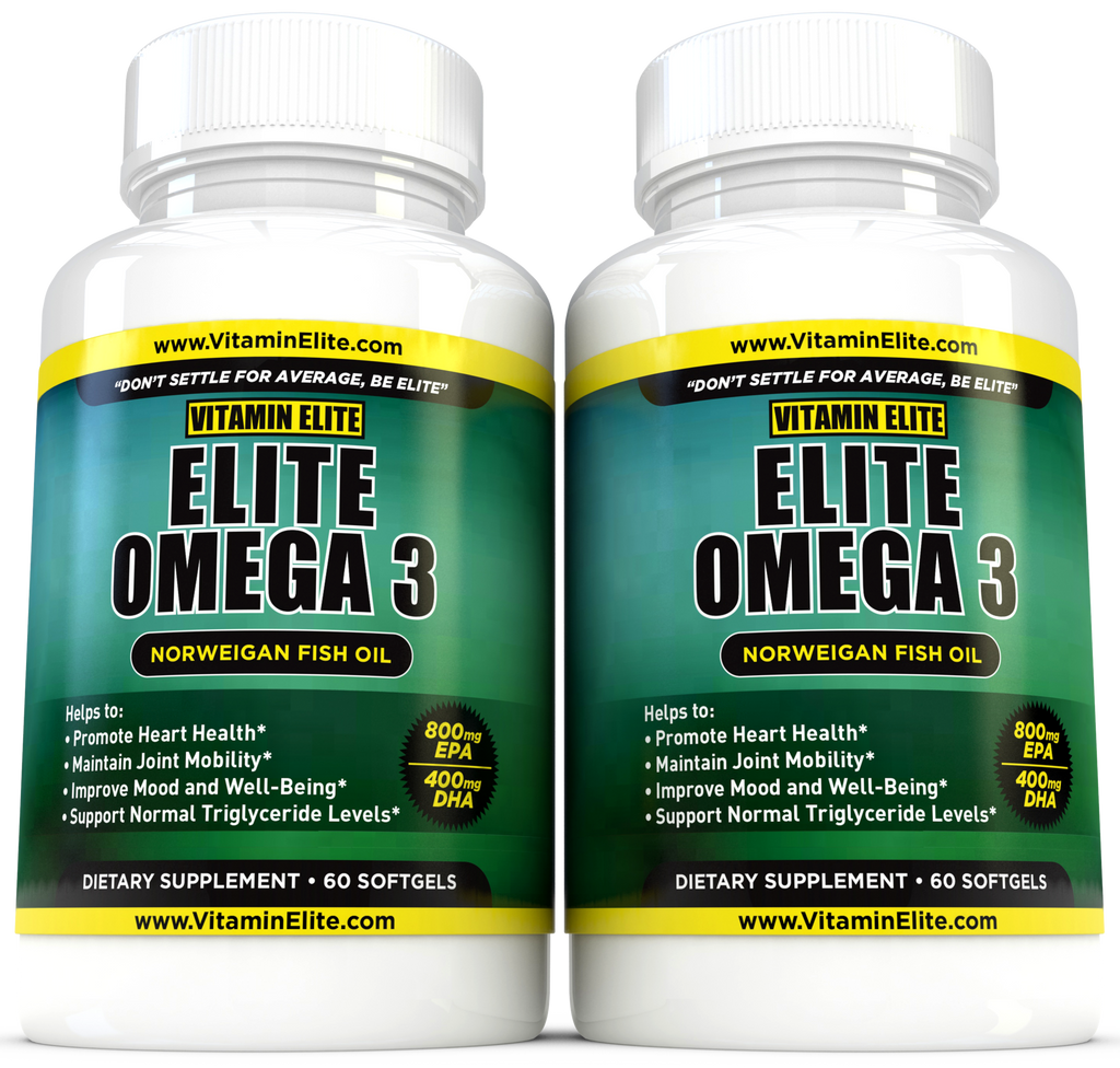 Elite Omega 3 Norwegian Fish Oil - 2 Pack