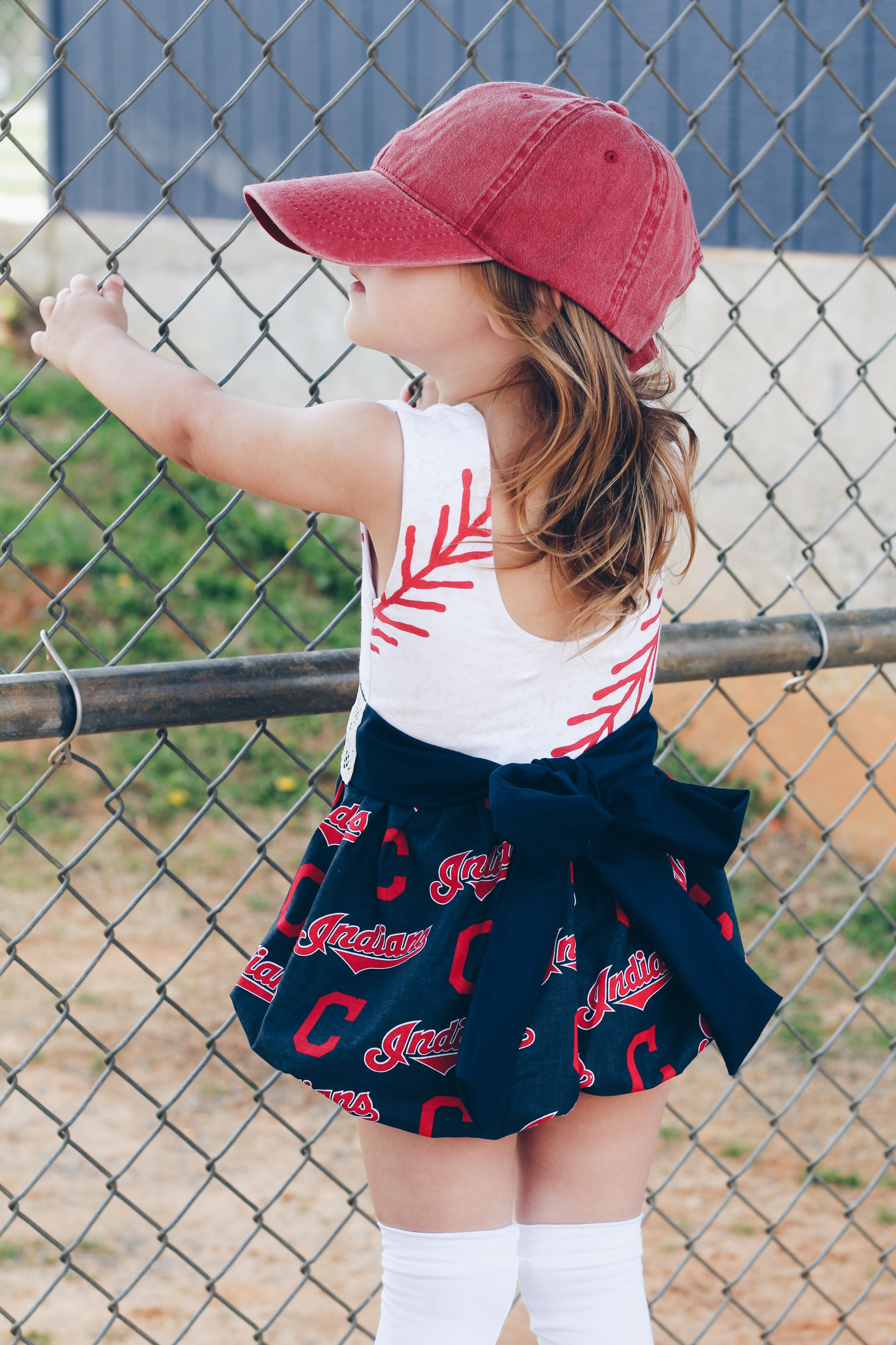 CLEVELAND INDIANS Baseball Bubble Romper