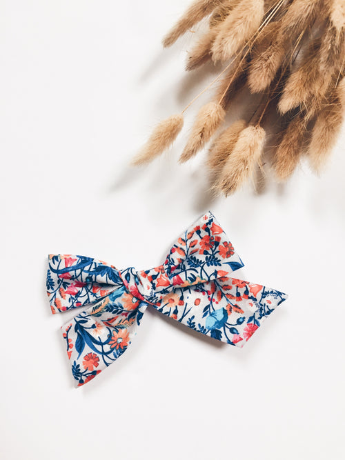 Frenchie Floral LANA Bow