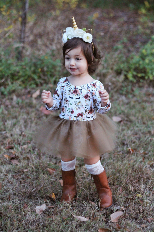 AUTUMN UNICORN Tutu Mini Dress