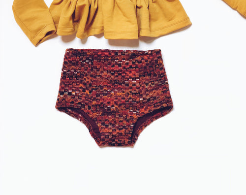 BURGUNDY SWEATER High Waisted Bloomers