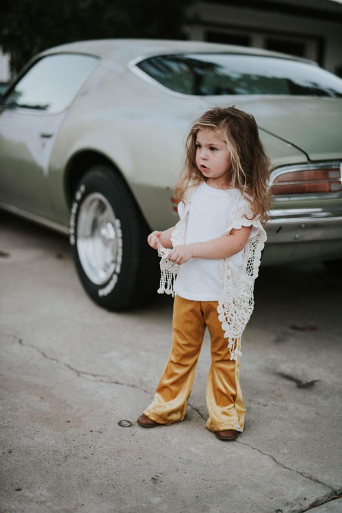 GOLD VELVET Bell Bottoms