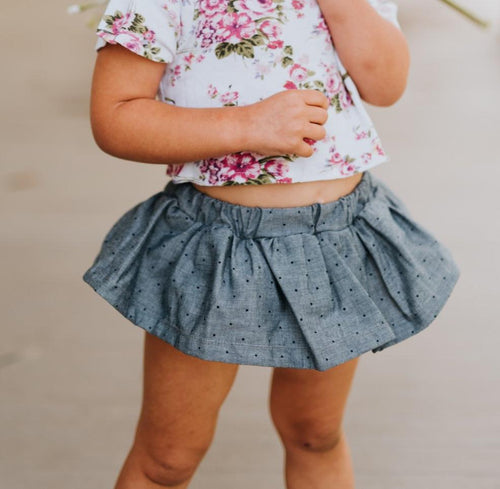 CHAMBRAY DOT Skirted Bloomer