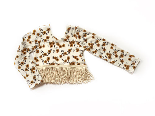 WILDFLOWER Fringe Crop Top
