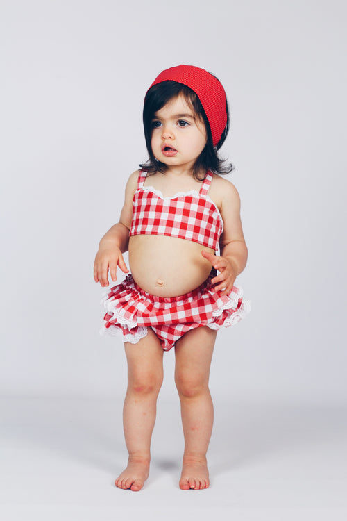 RED GINGHAM Bloomer Shorts