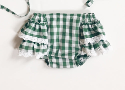 FERN GINGHAM Bloomer Shorts